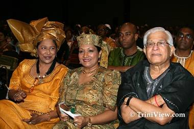 Kamla Persad-Bissessar, Oma Panday and Basdeo Panday